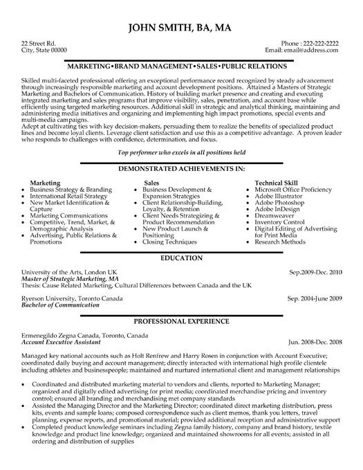 click here to this account executive assistant resume template http administrative format Resume Account Executive Resume Format Download
