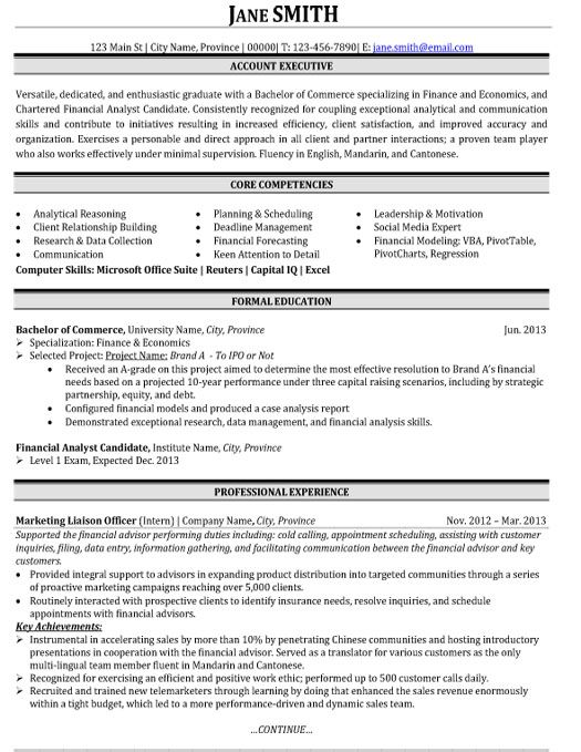 click here to this account executive resume template http resumetemplates10 student Resume Account Executive Resume Format Download