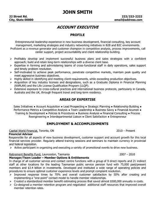 click here to this account executive resume template http resumetemplates101 accountant Resume Account Executive Resume Format Download