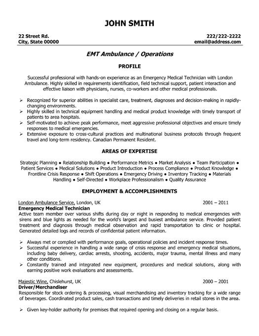 click here to this emergency medical technician resume template http resumetemp assistant Resume Emergency Medical Technician Resume Sample