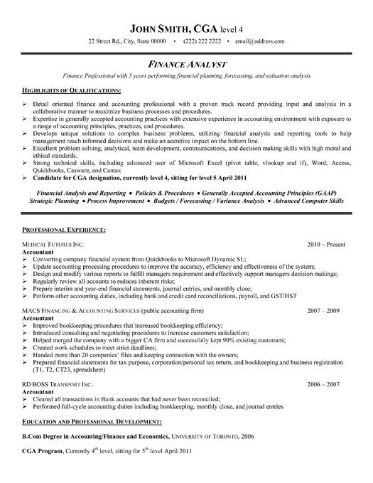 click here to this financial analyst resume template http resumetemplates101 job samples Resume Finance Professional Resume Format