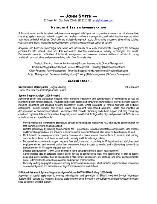 click here to this system administrator resume template http resumetemplates101 templates Resume System Administrator Resume Sample Download
