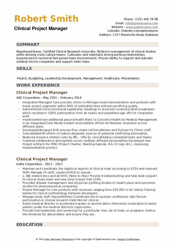 clinical project manager resume samples qwikresume healthcare domain description for pdf Resume Healthcare Domain Project Description For Resume