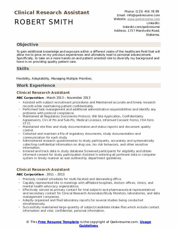 clinical research assistant resume samples qwikresume entry level pdf random generator Resume Entry Level Research Assistant Resume