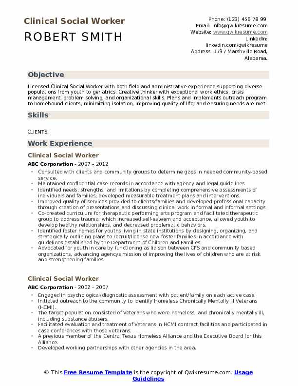 clinical social worker resume samples qwikresume work templates free pdf professional Resume Social Work Resume Templates Free