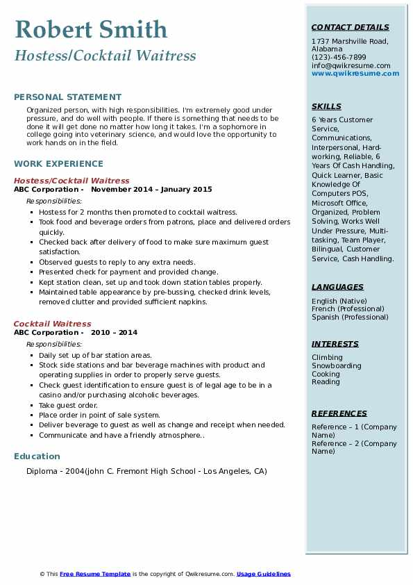 cocktail waitress resume samples qwikresume server job description pdf energy aerospace Resume Cocktail Server Job Description Resume