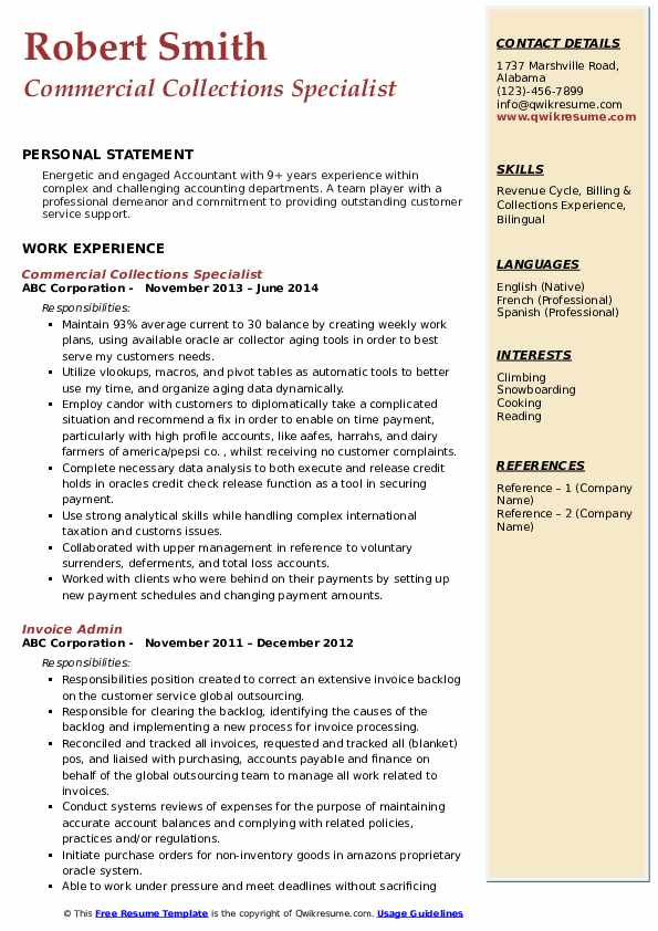 collections specialist resume samples qwikresume medical billing and pdf lifeguard job Resume Medical Billing And Collections Specialist Resume