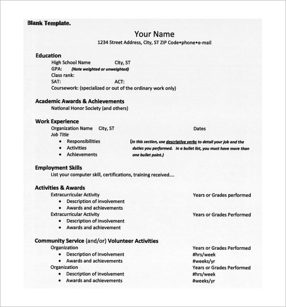 college resume templates pdf free premium for admission campaign manager activities Resume Resume For College Admission
