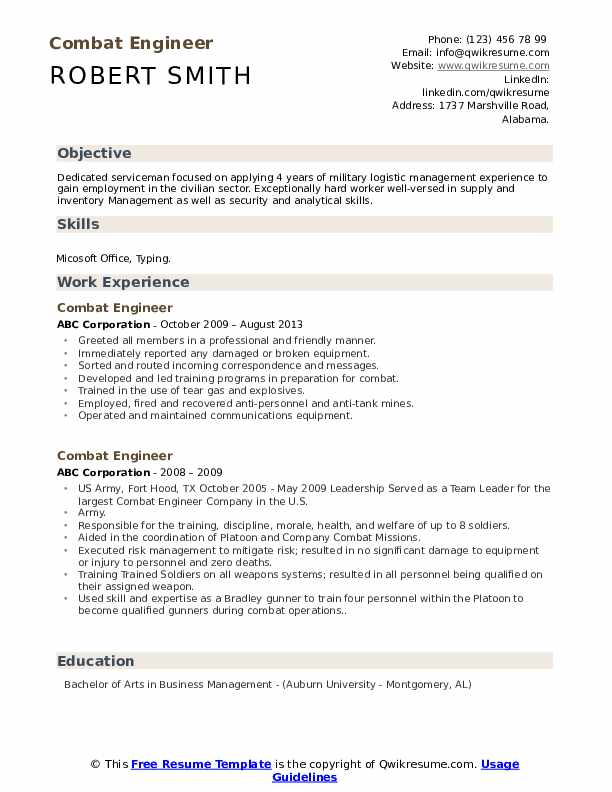 combat engineer resume samples qwikresume marine corps skills for pdf projects data Resume Marine Corps Skills For Resume