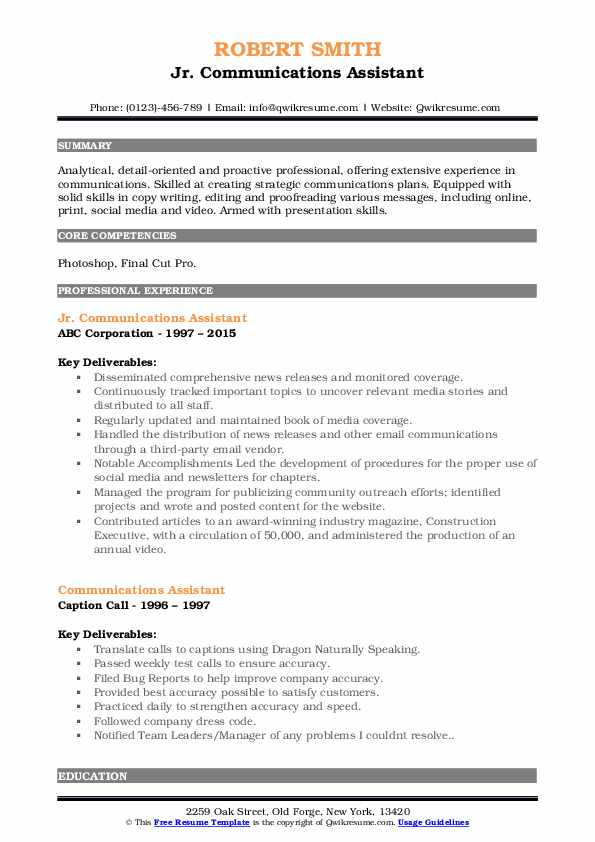 communications assistant resume samples qwikresume dragon contact number pdf etl Resume Dragon Resume Contact Number