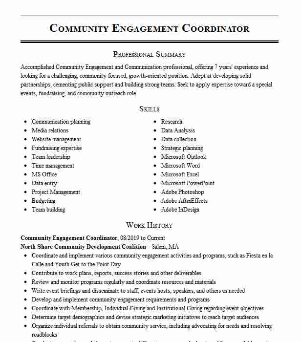 community engagement coordinator resume example the education partnership pittsburgh Resume Employee Engagement Coordinator Resume