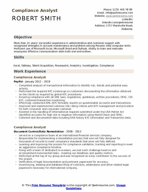 compliance analyst resume samples qwikresume kyc example pdf objective for employee Resume Kyc Analyst Resume Example