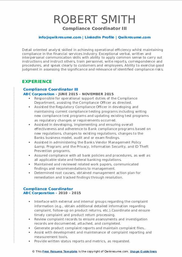 compliance coordinator resume samples qwikresume job description for pdf best free wizard Resume Compliance Coordinator Job Description For Resume