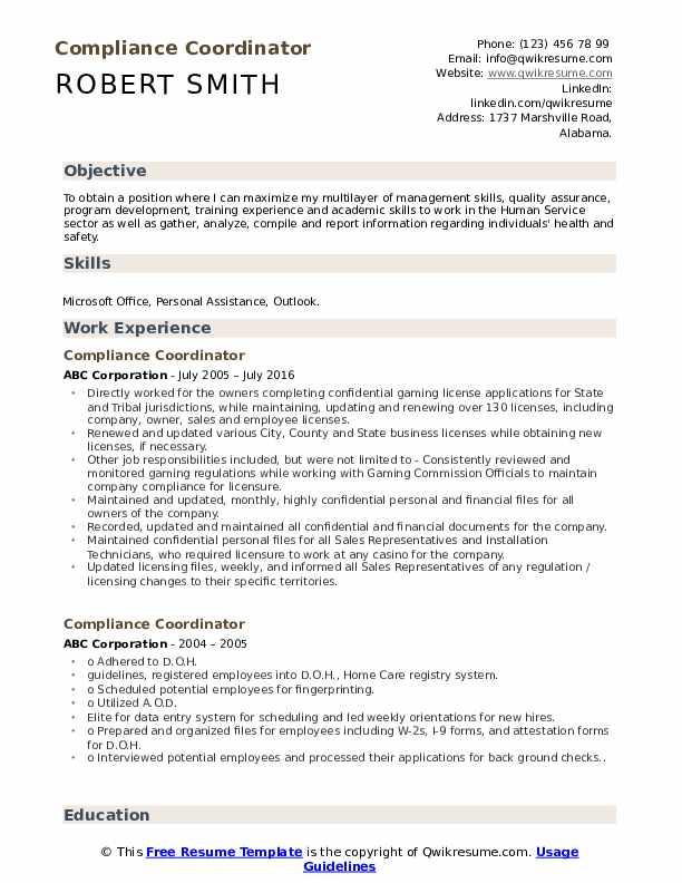 compliance coordinator resume samples qwikresume job description for pdf can your have Resume Compliance Coordinator Job Description For Resume