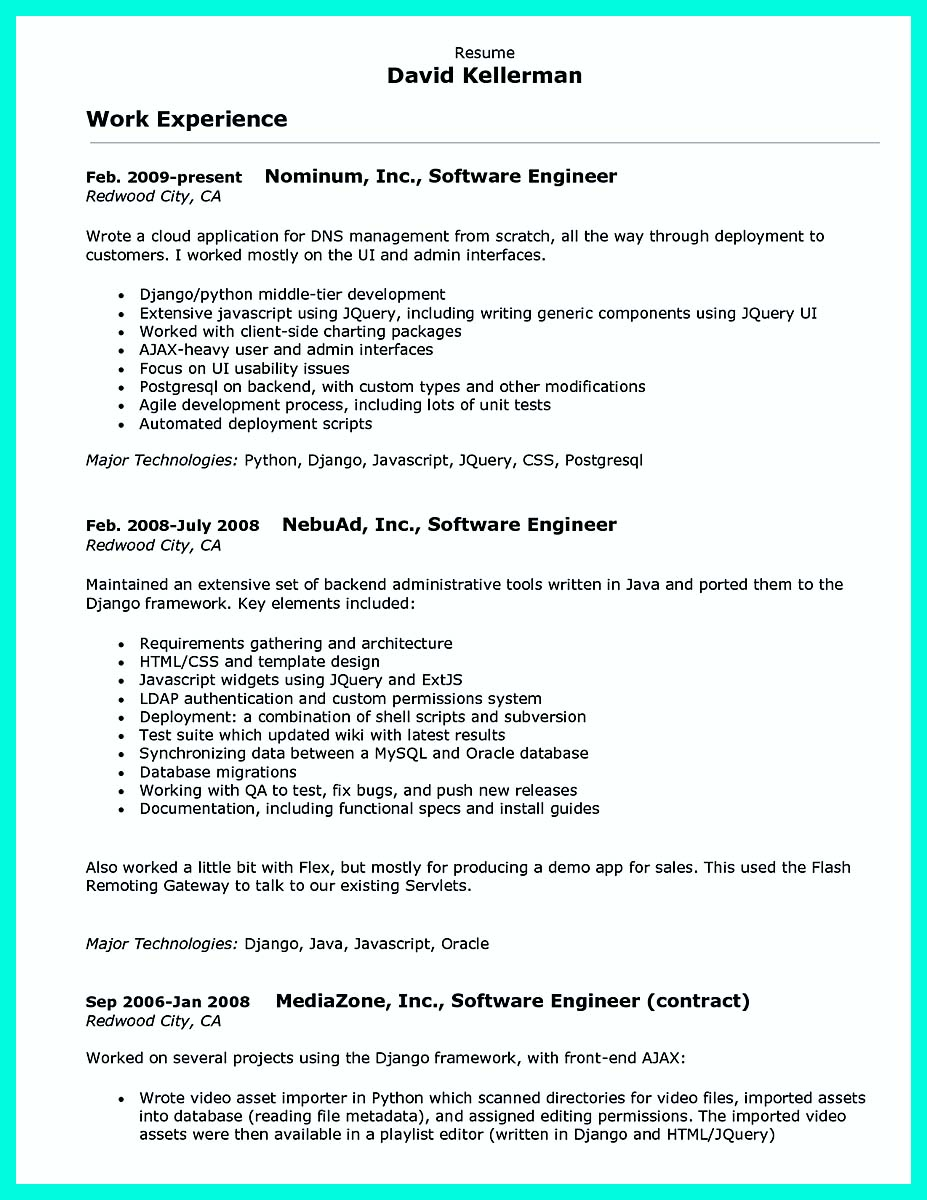 computer programmer resume examples to impress employers database awesome for honors Resume Database Programmer Resume