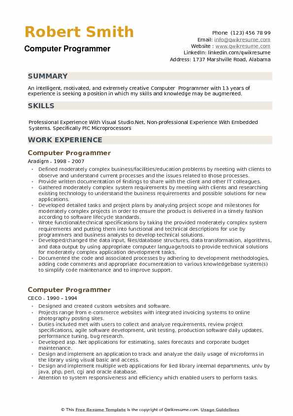 computer programmer resume samples qwikresume sample pdf track and field spm software for Resume Computer Programmer Resume Sample