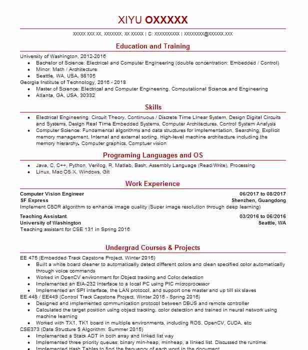 computer vision engineer resume example yadle mountain view pmo business analyst Resume Computer Vision Engineer Resume