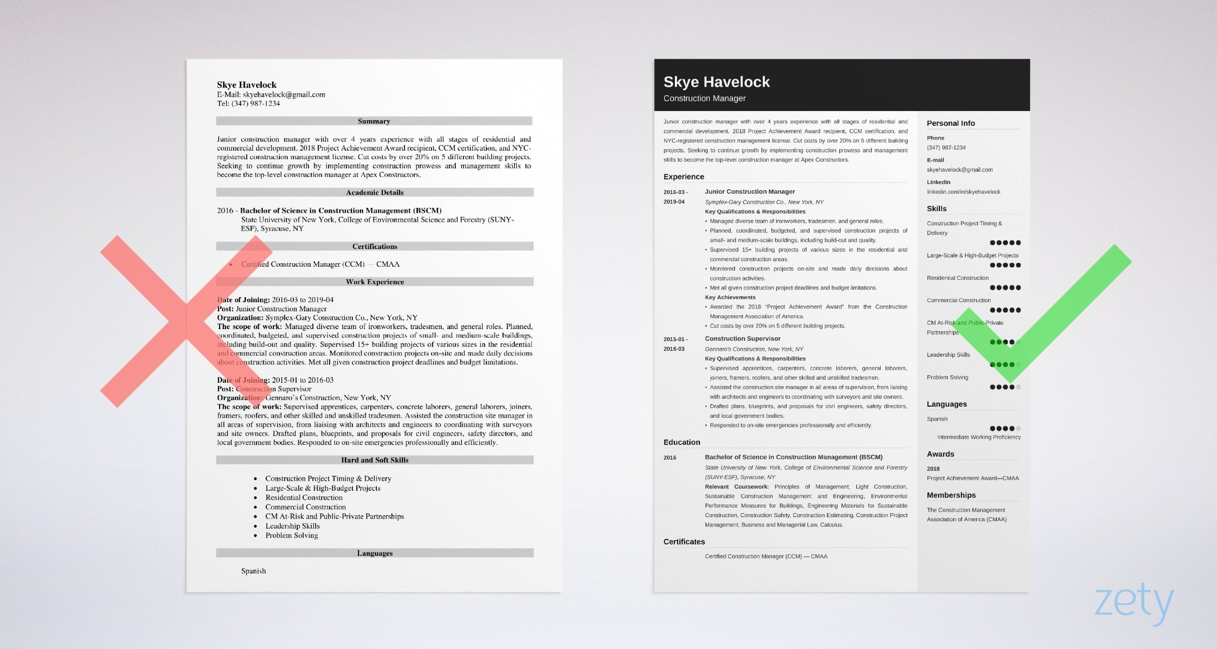 construction manager resume sample objective skills examples example keywords for Resume Construction Manager Resume Examples