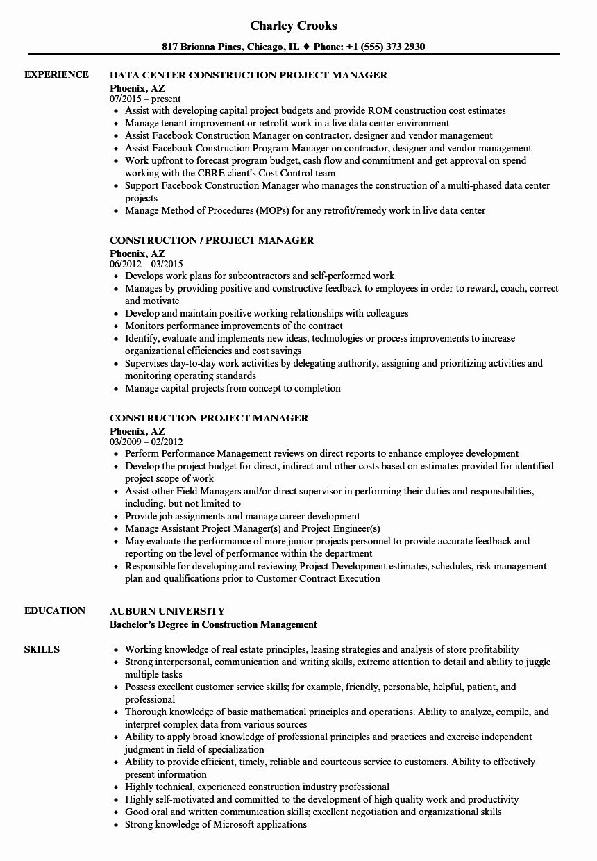 construction project manager jobs resume examples microsoft certified logo for accounting Resume Construction Manager Resume Examples
