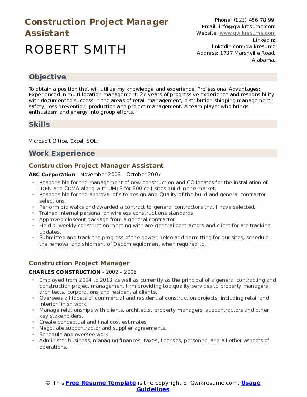 construction project manager resume samples qwikresume job description pdf examples Resume Construction Project Manager Job Description Resume