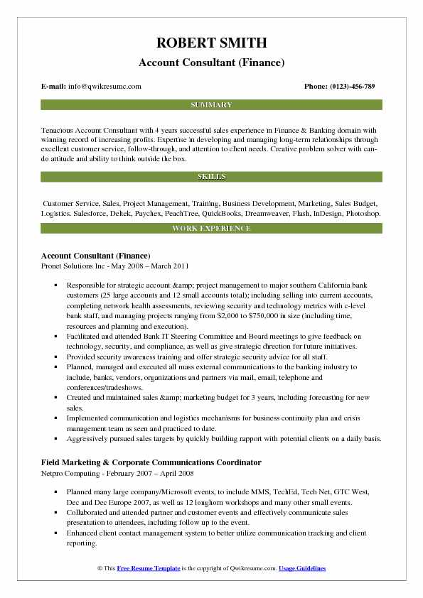 consultant resume samples examples and tips eyewear account pdf coordinate synonym man Resume Eyewear Consultant Resume