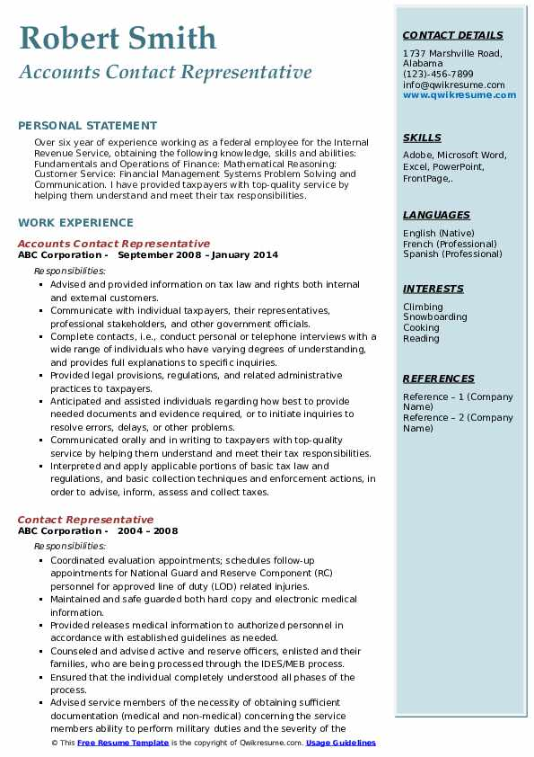 contact representative resume samples qwikresume details on pdf account executive job Resume Contact Details On Resume