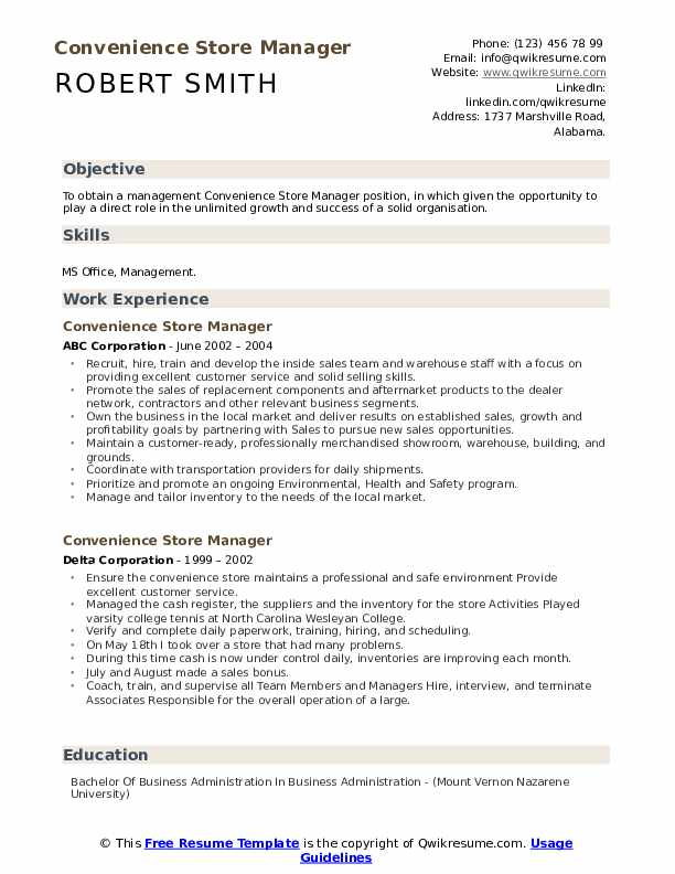 convenience store manager resume samples qwikresume objective retail pdf en español word Resume Resume Objective Retail Manager