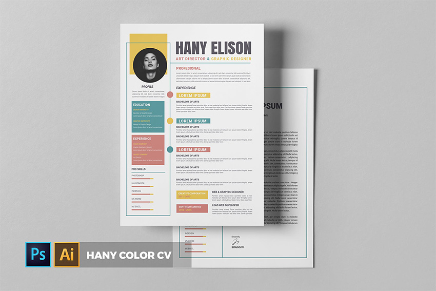 cool colorful resume cv templates to stand out creatively in background color hany and Resume Resume Picture Background Color