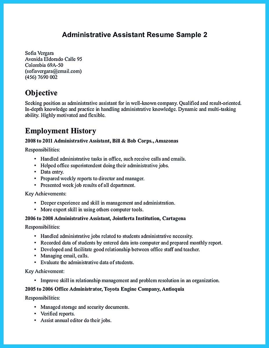 cool professional administrative resume sample to make you get the job assistant medical Resume Resume Objective For Administrative Position