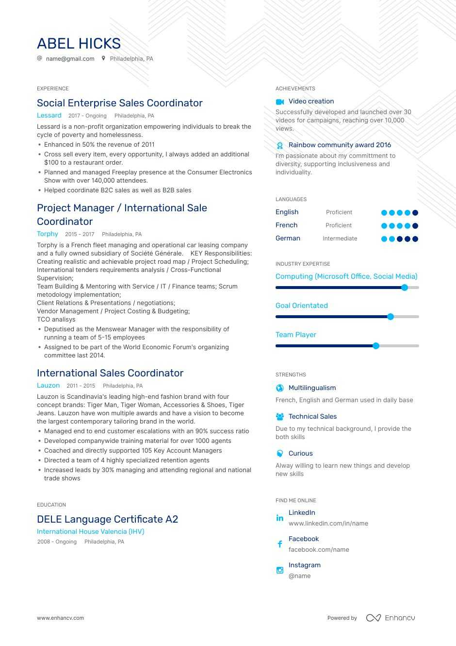 coordinator resume examples do and don ts for enhancv sample position bullet template Resume Sample Resume For Coordinator Position