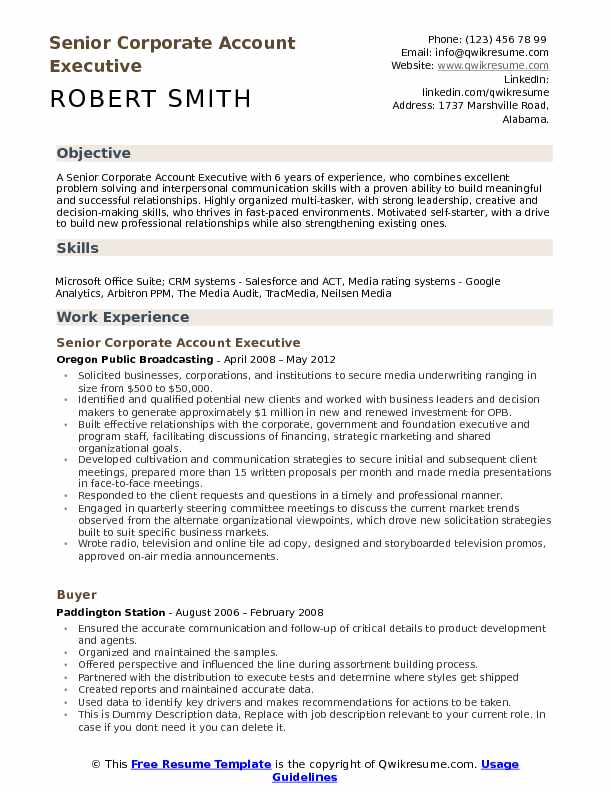 corporate account executive resume samples qwikresume radio pdf operations and supply Resume Radio Account Executive Resume