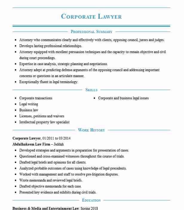 corporate lawyer resume example ayodele akintunde co jacksonville licensed attorney Resume Licensed Attorney Resume