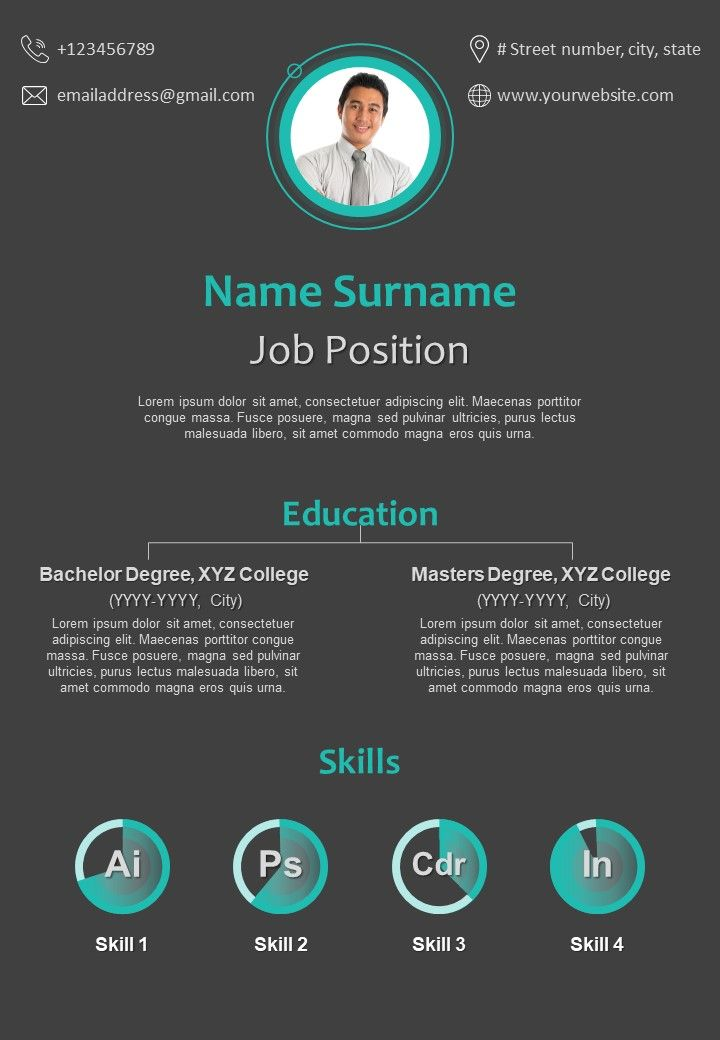 corporate resume design with creative infographic presentation powerpoint images example Resume Creative Infographic Resume
