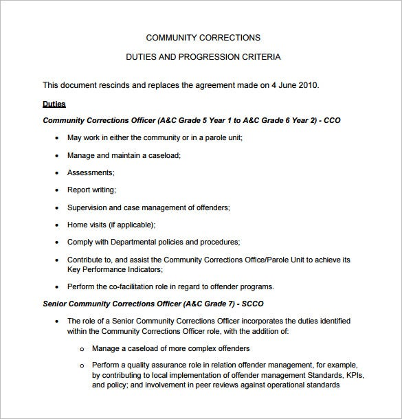 correction officer job description template free word pdf format premium templates Resume Correctional Officer Duties And Responsibilities Resume