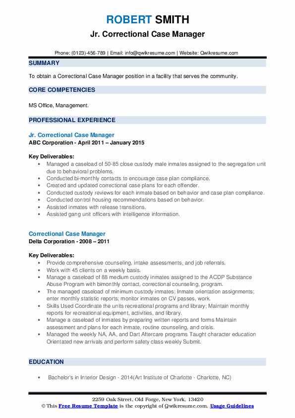 correctional case manager resume samples qwikresume pdf customer service supervisor Resume Correctional Case Manager Resume