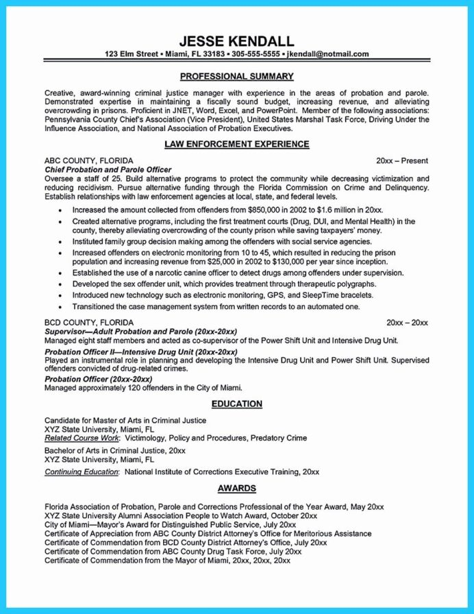 correctional officer resume examples luxury perfect ficer to get noticed format objective Resume Correctional Officer Resume