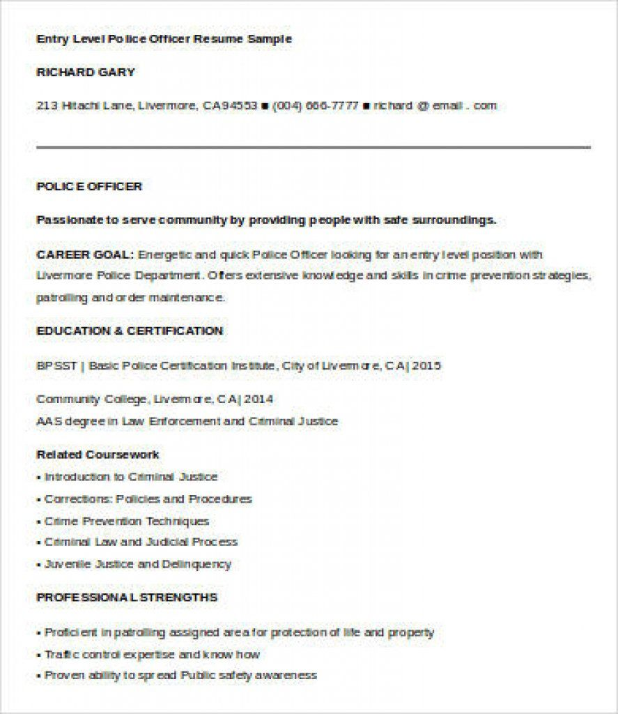 correctional officer resume objective elegant entry level police resumes pinar Resume Entry Level Correctional Officer Resume