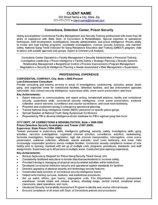 corrections officer resume example correctional exbc21a synonyms for experience Resume Correctional Officer Resume