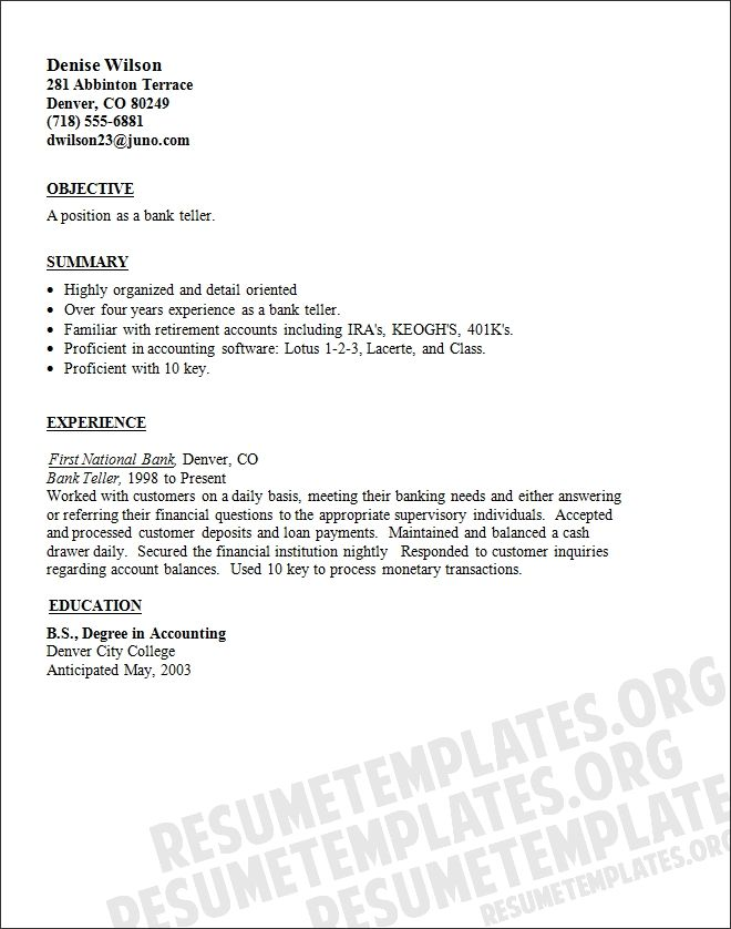 cover letter bank sample job references previous employer resume for reference format Resume Resume Format For Bank Job
