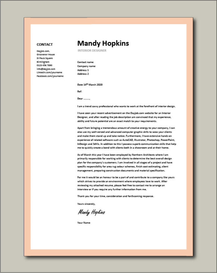 cover letter examples canva resume front sample coverletter14 definition business best Resume Resume Front Page Sample