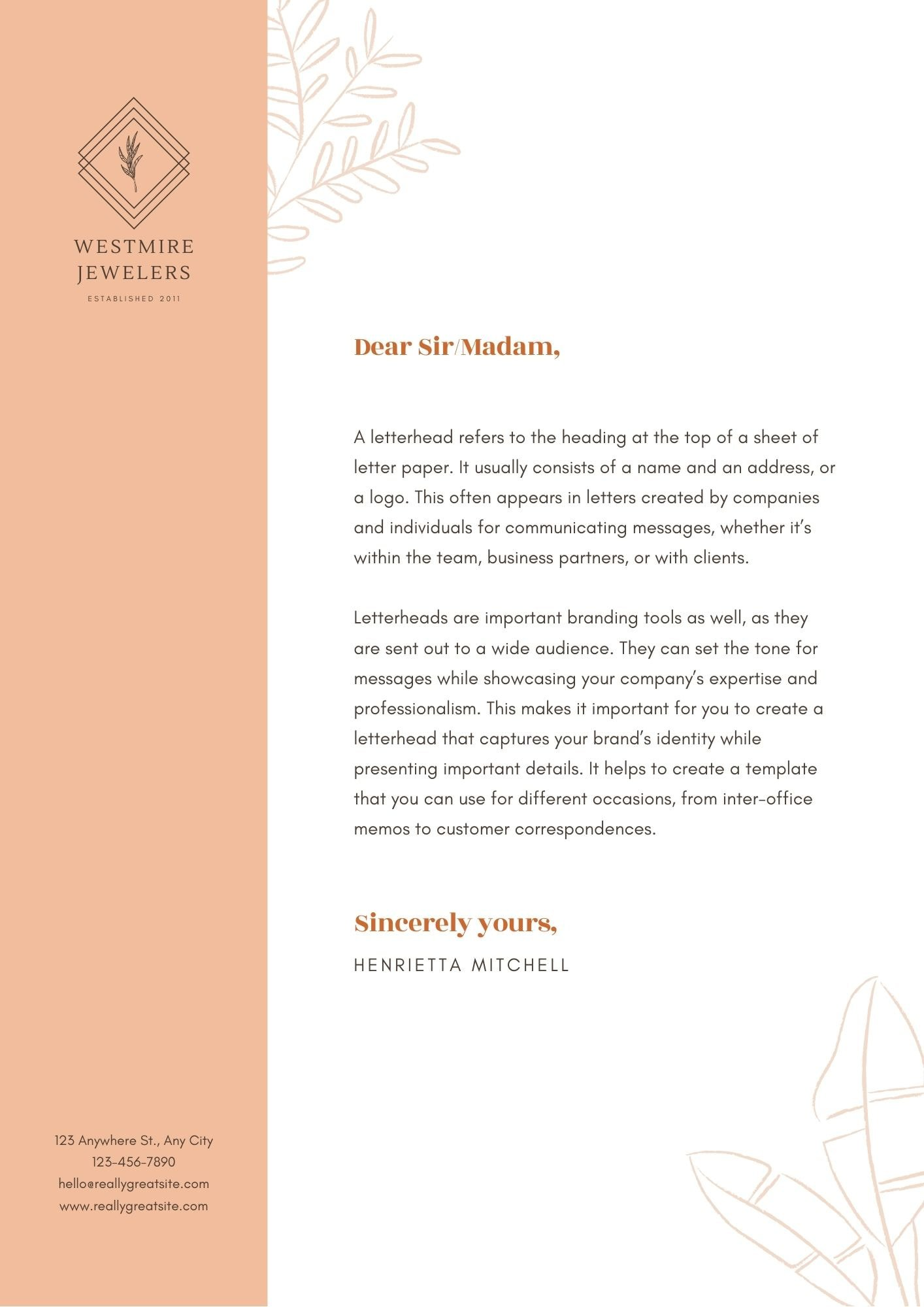 cover letter examples canva resume salmon and illustrative letterhead professional format Resume Canva Resume Cover Letter