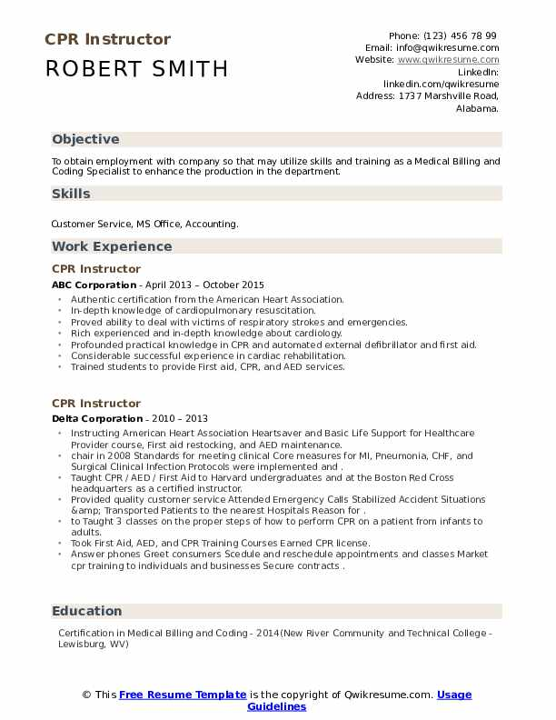 cpr instructor resume samples qwikresume and first aid certification pdf pharmacy Resume Cpr And First Aid Certification Resume