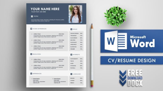 creative cv resume template design in microsoft word free office correction summary for Resume Office Word Resume Template Free
