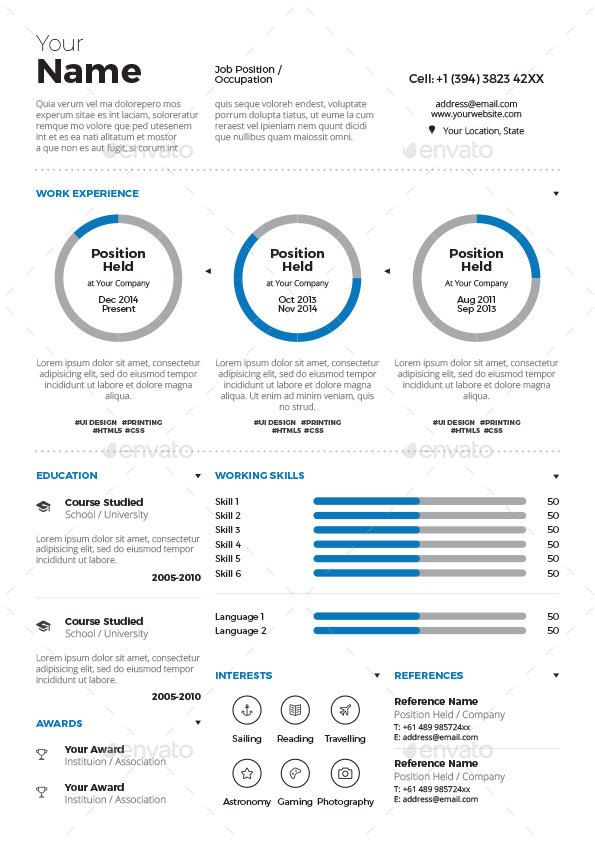 creative infographic resume templates graphic template cv best builder example of good Resume Best Infographic Resume Builder