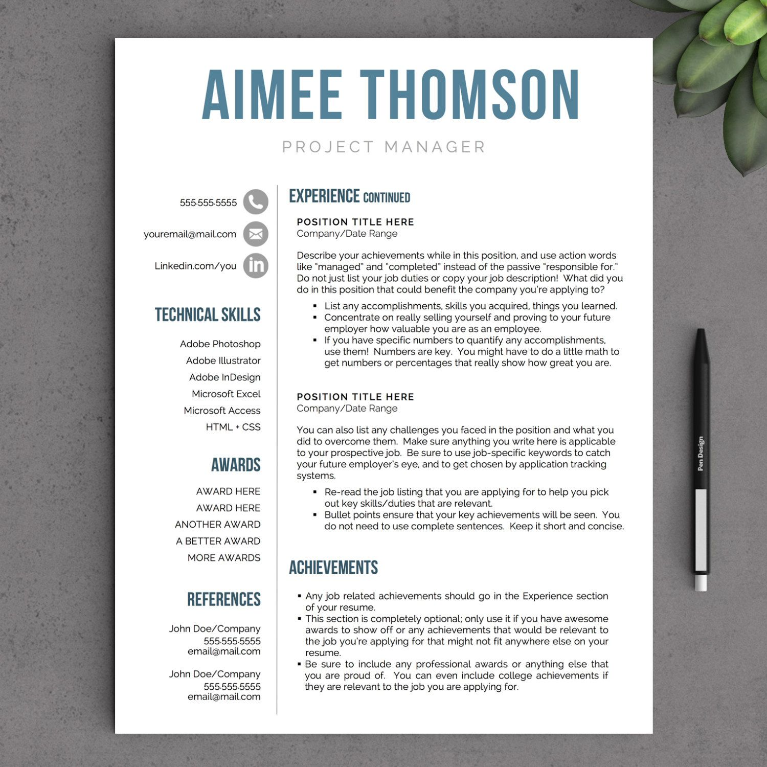 creative modern resume template for word us letter and tem free examples pretty layouts Resume Modern Resume Template Examples