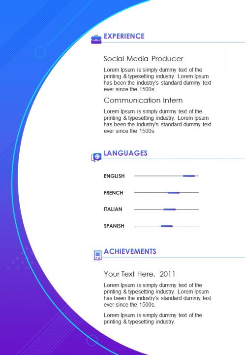 creative resume template for social media manager cv sample powerpoint slide presentation Resume Social Media Resume Sample