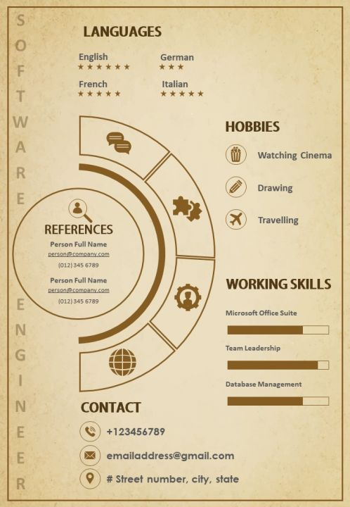 creative resume template size infographic cv for engineers marketers templates powerpoint Resume Creative Infographic Resume