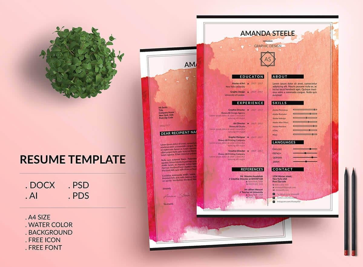 creative resume templates examples background color individual startup founder Resume Resume Picture Background Color