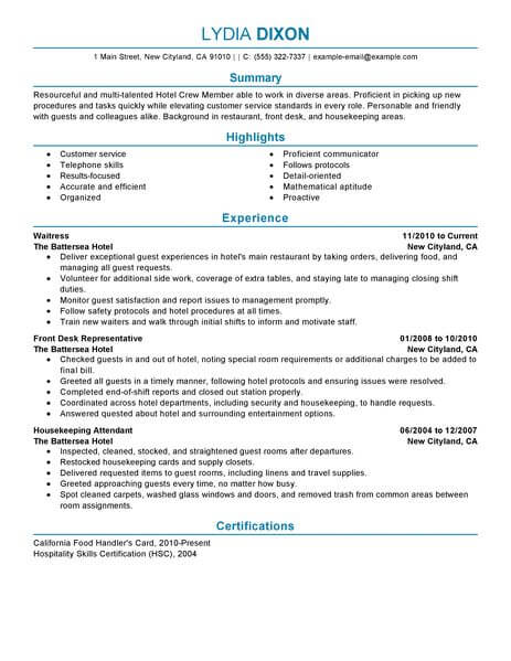 crew member resume example no experience resumes livecareer mcdonalds job description for Resume Mcdonalds Crew Member Job Description For Resume