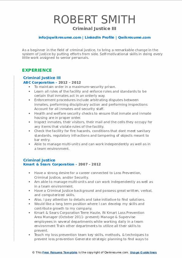 criminal justice resume samples qwikresume objective pdf free examples action verbs for Resume Criminal Justice Resume Objective